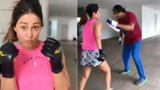 Hina Khan Shows Off Some Serious Kickboxing Techniques in Her Latest Post- Watch