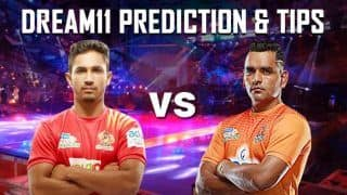 Dream11 Team GUJ vs PUN Pro Kabaddi League 2019 - Kabaddi Prediction Tips For Today's PKL Match 28 Gujarat Fortune Giants vs Puneri Paltan at Patliputra Indoor Stadium, Patna