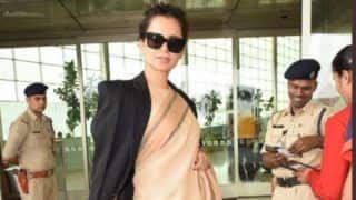 Kangana Ranaut Gets Trolled For Wearing Rs 600 Saree With a Prada Bag