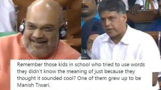 Manish Tewari Brutally Trolled For Using 'Fifty Shades of Grey' in His Article 370 Speech While Answering Amit Shah