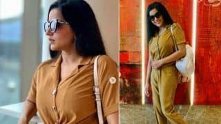 Monalisa Aces The Airport Look in Her Mustard Outfit And We Can't Keep Calm