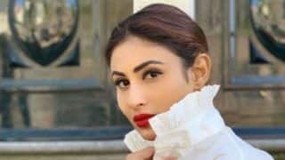 Mouni Roy Creates New Waves With Her Style Statement, Wears Hot Red Lipper