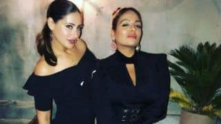 Nargis Fakhri And Friend Turn The Heat up in Los Angeles as They Ooze Oomph by Twinning in Hot Black Dresses