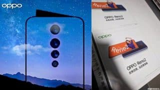 Oppo Reno2 video stabilization teased by company's VP; India launch on August 28
