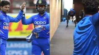 India vs West Indies 2nd ODI: Kuldeep Yadav, Rishab Pant Practice in Hotel Lobby After Rain Washed Out Team India's Outdoor Session | WATCH VIDEO