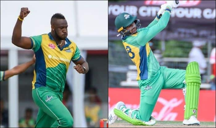 Image result for creketar andre russell and shayeb malik pic