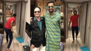 Krunal Pandya Not Taking it Easy Against His Father in House Cricket Match, Gets Him Clean-Bowled in Instagram, Twitter Video | WATCH