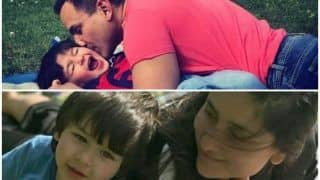 Saif Ali Khan Kissing Taimur Raw With Mommy Kareena Kapoor Khan is All we Need to Add Missing Sunshine to Our Day