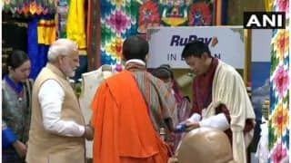 Narendra Modi in Thimpu Updates: Prime Minister Launches RuPay Card in Bhutan, 9 MoUs Signed