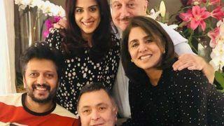 Rishi Kapoor Enjoys 'Ghar Ka Khana' With Riteish Deshmukh, Genelia in New York