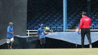 India vs West Indies 3rd ODI: बारिश से खेल रूका, गेल की आतिशी पारी से वेस्टइंडीज के दो विकेट पर 158 रन