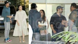 Ranbir Kapoor-Alia Bhatt Clicked Out With Varun Dhawan-Natasha Dalal on an Easy Sunday Night - Check Latest Pics