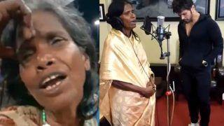 Kolkata's Viral Singing Sensation Ranu Mondal Records Her First Song With Himesh Reshammiya - Watch Video