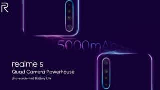 Realme 5 teaser confirms 5,000mAh battery; ahead of August 20 launch