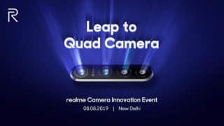 Realme to launch 64MP quad-camera technology on August 8; official invites out