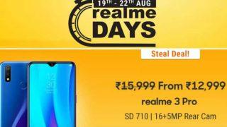 realme Days Sale शुरू: Realme X, Realme 3 pro समेत कई स्मार्टफोन कम कीमत में खरीदने का मौका