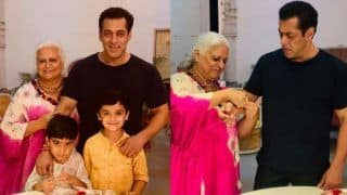 Salman Khan's Rakhi Pictures: Bhai Celebrates Raksha Bandhan With Bina Kak in Jaipur Where he Shoots For Dabangg 3