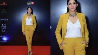 Sapna Choudhary Receives Delhiites Icon of the Year Entertainer Award, Looks Hot in a Yellow Power Suit