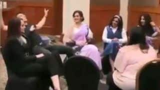 Sonakshi Sinha Purposely Knocks Akshay Kumar Off His Chair During Mission Mangal Promotions- Watch