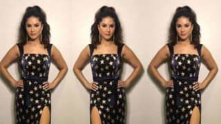 Sunny Leone's Super Glamorous Pictures in Hot Golden Star Dress Will Brighten up Your Day