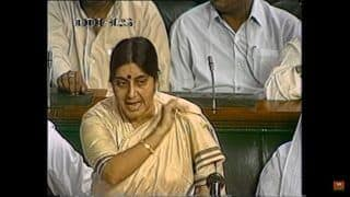 RIP Sushma Swaraj: Watch Her Famous Speech of 1996 During Confidence Motion