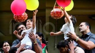 Taimur Ali Khan Tries to Break Dahi Handi - Cutest Pictures From Janmashtami Celebrations This Year