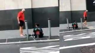 Viral Video: Old Man Gives His Shoes And Socks to Homeless Man, Walks Barefoot Himself
