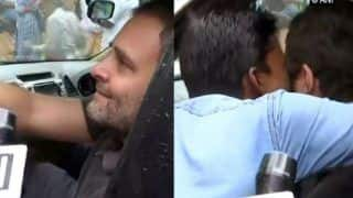 Rahul Gandhi Gets a Kiss on His Cheek From Man During His Visit in Wayanad- Watch Viral Video