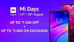 Mi Days Sale: Xiaomi स्मार्टफोन पर बेहतरीन डील्स पाने का आज आखिरी दिन, जानें सभी ऑफर्स