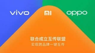 Xiaomi, Oppo and Vivo announce alliance for a cross device file transfer service