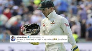 Ashes 2019: Aakash Chopra Mocks Tim Paine Over DRS Indecision at Oval, Asks Him to Take Classes From MS Dhoni | SEE POST
