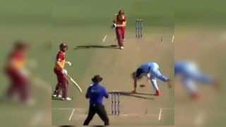 Marsh Cup: Australian Bowler Mickey Edwards Narrowly Escapes Serious Injury After Being Hit on Head   WATCH VIDEO