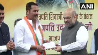 Major Blow to NCP as Udayanraje Bhosale Joins BJP Ahead of Maharashtra Polls