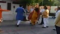 Delhi BJP Leader Slaps Wife at Party HQ, Video Goes Viral on Social Media | Watch