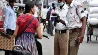 चालान के डर से लड़की का सड़क पर हंगामा, सुसाइड की दी धमकी, पुलिस ने उठाया ये कदम..