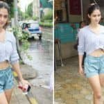 Disha Patani Steps Out in Crop Top And Shorts, Her no Make-up Look Will Steal Your Heart Away
