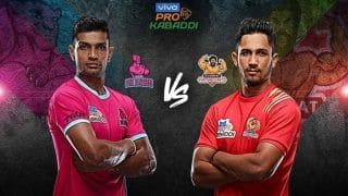 Dream11 Team JAI vs GUJ Pro Kabaddi League 2019 - Kabaddi Prediction Tips For Today's PKL Match 100 Jaipur Pink Panthers vs Gujarat Fortunegiants at Sawai Mansingh Stadium, Jaipur