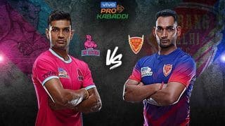 Dream11 Team JAI vs DEL Pro Kabaddi League 2019 - Kabaddi Prediction Tips For Today's PKL Match 73 Jaipur Pink Panthers vs Dabang Delhi K.C at Sree Kanteerava Stadium, Bengaluru