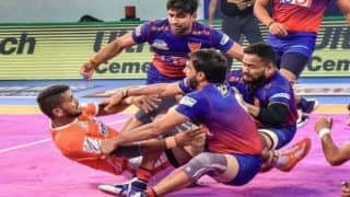 Dream11 Team HYD vs DEL Pro Kabaddi League 2019 - Kabaddi Prediction Tips For Today's PKL Match 94 Dabang Delhi vs Telugu Titans at Shree Shiv Chhatrapati Wrestling Hall