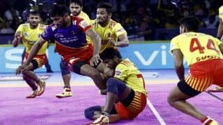 Dream11 Team UP vs GUJ Pro Kabaddi League 2019 - Kabaddi Prediction Tips For Today's PKL Match 82 UP Yoddha Vs Gujarat Fortunegiants at Netaji Subhash Chandra Bose Indoor Stadium, Kolkata