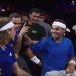 Rafael Nadal, Roger Federer Find Stefanos Tsitspas' Hand Signals During Laver Cup 2019 Doubles Match Funny   WATCH VIDEO