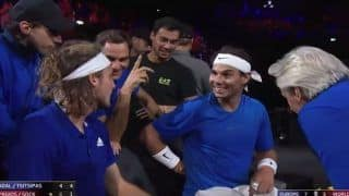 Rafael Nadal, Roger Federer Find Stefanos Tsitspas' Hand Signals During Laver Cup 2019 Doubles Match Funny | WATCH VIDEO