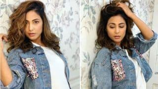 Television Hottie Hina Khan Looks Nothing Less Than Stunner in White Dress And Denim Jacket