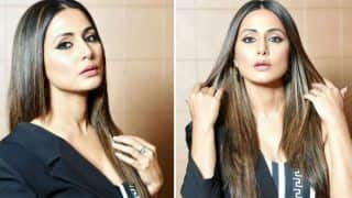 Television Hottie Hina Khan Looks Stunning in Half Blazer Dress - See Pics