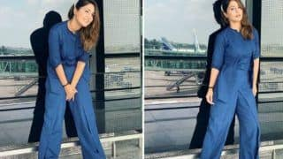 Television Hottie Hina Khan Glams it Up in Blue Jumpsuit And Nude Makeup And Fans Can't Keep Calm