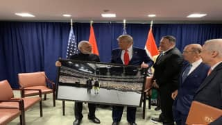 PM Modi Presents Framed Photo of 'Howdy Modi' Event to US President Trump