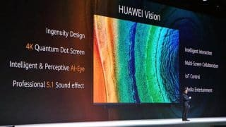 Huawei Vision TV official with 4K resolution and Harmony OS