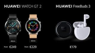Huawei Watch GT 2 and FreeBuds 3 launched along with the Mate 30 series