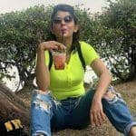 Television Hottie Jennifer Winget is 'Perfectly Plonked' as She Happily Camp While Slurping Her Drink