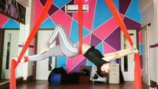 Beyhadh 2: Television Hottie Jennifer Winget Preps For Her New Show, Performs Aerial Yoga